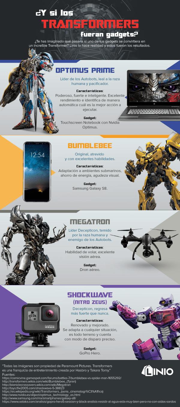 ¿Y si los Transformers fueran gadgets? - transformers_infografia_1