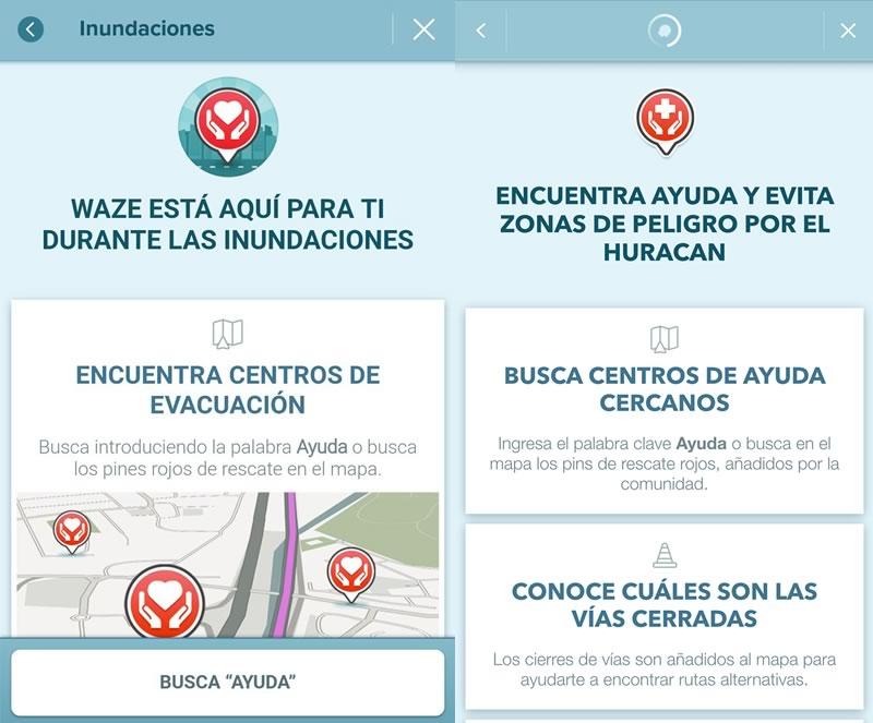 Waze se convierte en una plataforma de apoyo en desastres naturales