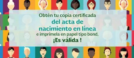 Solicitar e Imprimir tu acta de nacimiento en línea ya es posible ¡Entérate!