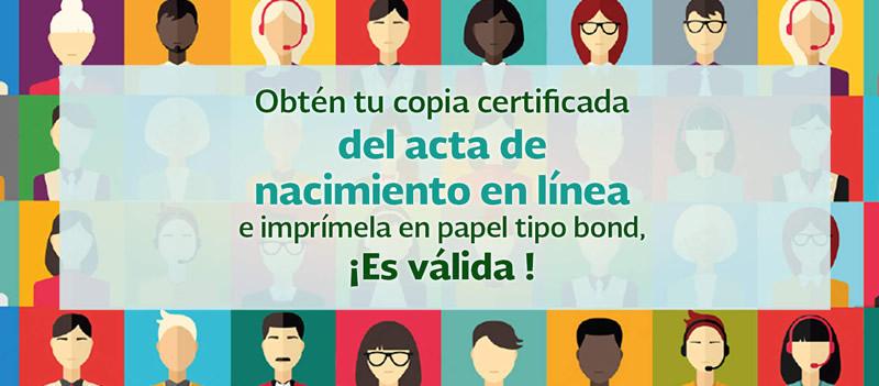 acta de nacimiento en linea Solicitar e Imprimir tu acta de nacimiento en línea ya es posible ¡Entérate!