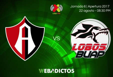 Atlas vs Lobos BUAP, Jornada 6 del Apertura 2017 ¡En vivo por internet!