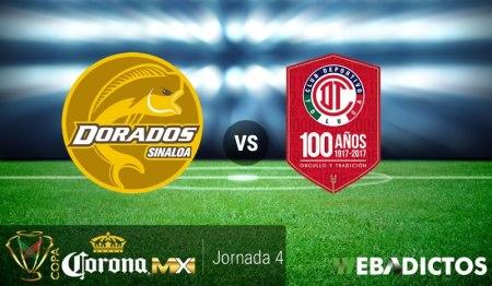Dorados vs Toluca, J4 de Copa MX Apertura 2017 | Resultado: 1-2