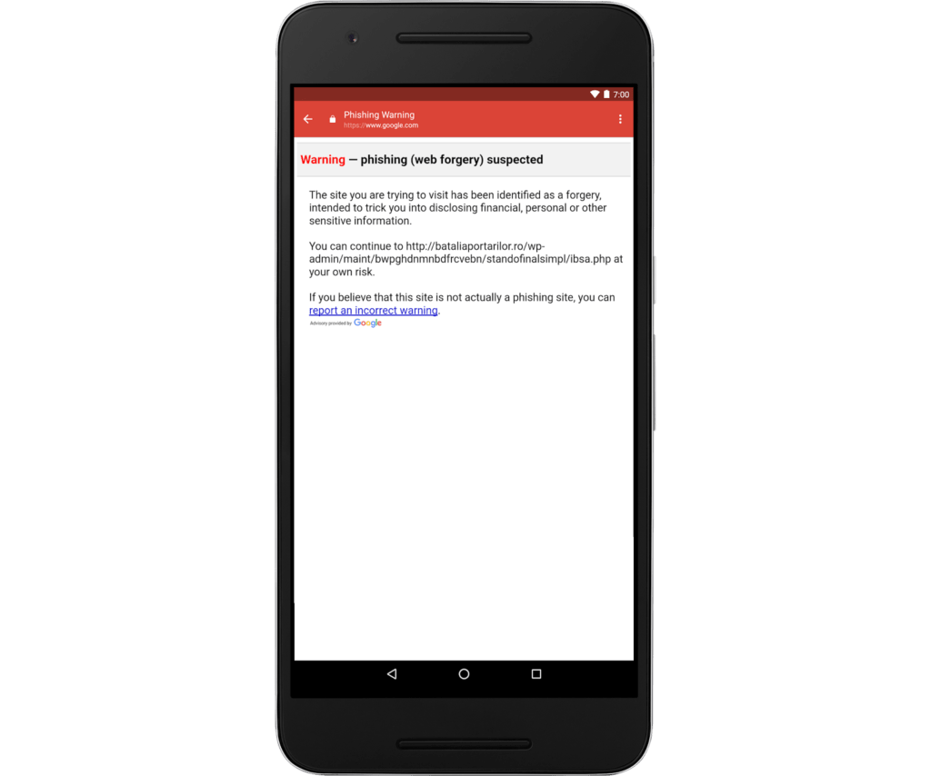 gm phishing warning Gmail para iOS te alertará de correos con enlaces phishing