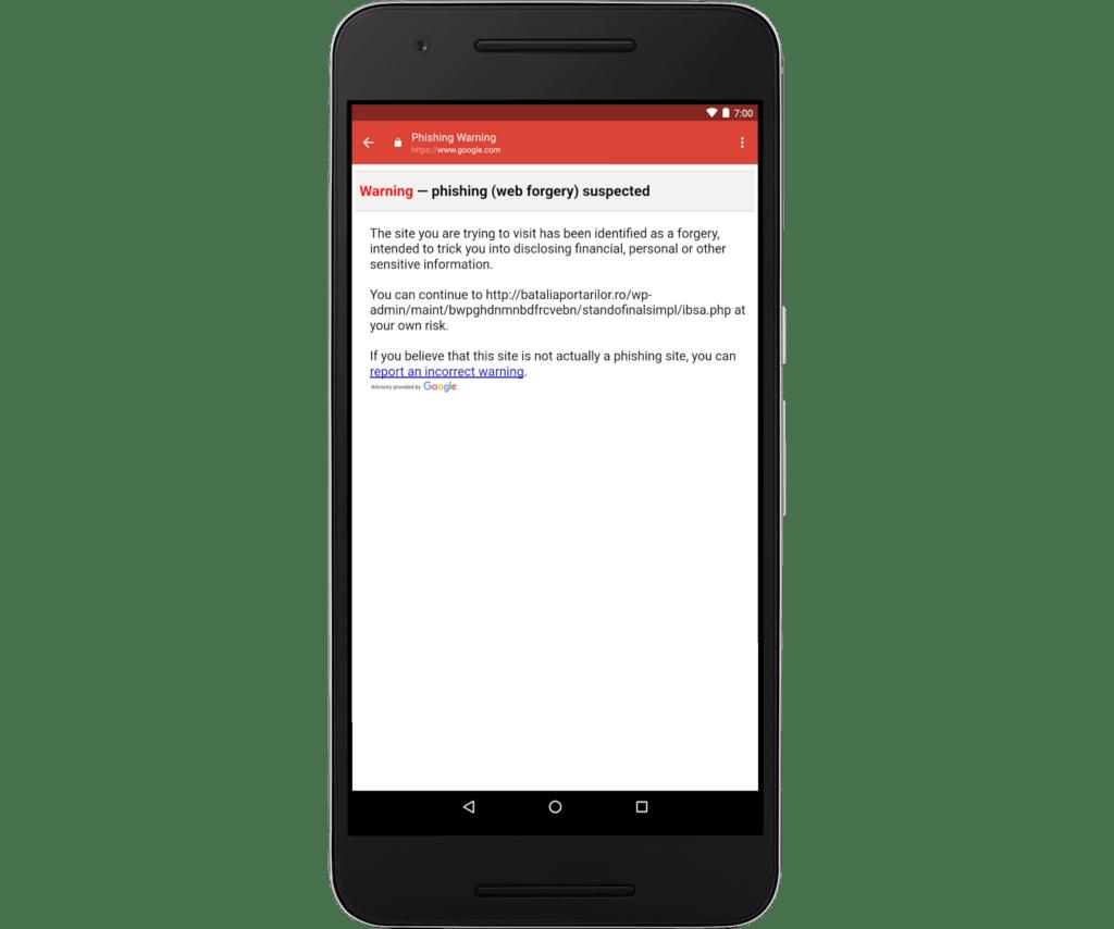 Gmail para iOS te alertará de correos con enlaces phishing - gm-phishing-warning