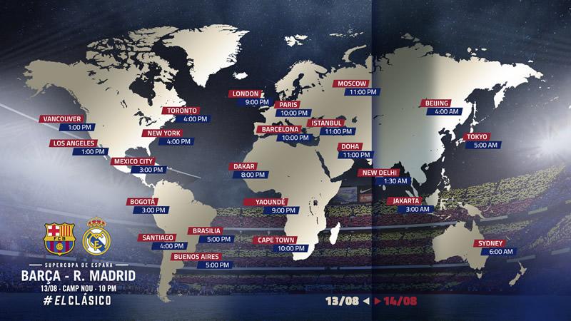 horarios supercopa espana 2017 barcelona vs real madrid Barcelona vs Real Madrid: horario y canales; Supercopa de España 2017