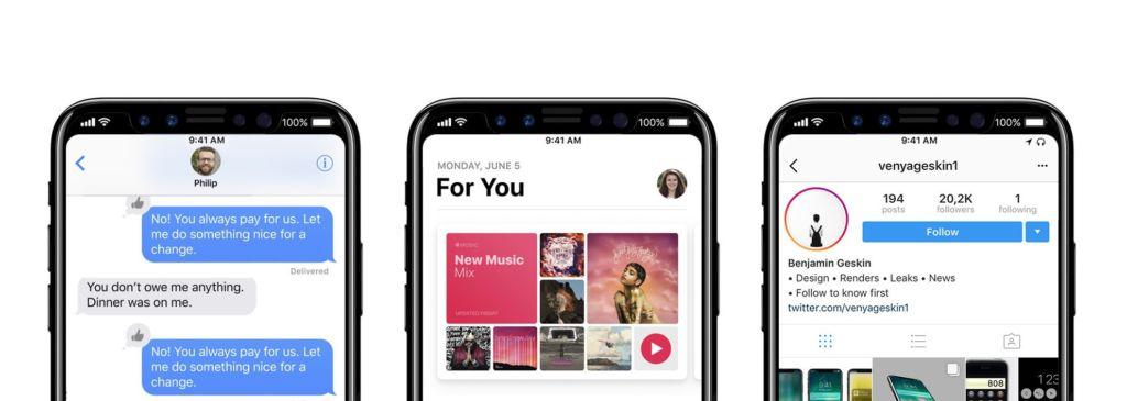¡Siguen apareciendo más datos del iPhone 8! - iphone-8-status-bar