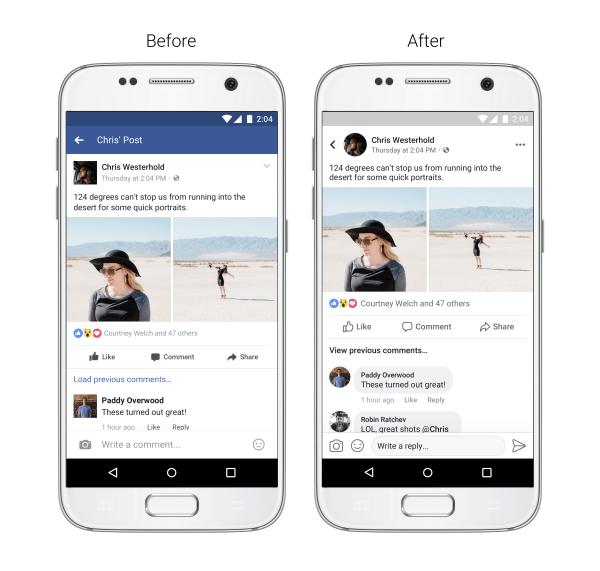 Renueva Facebook el diseño de su aplicación móvil