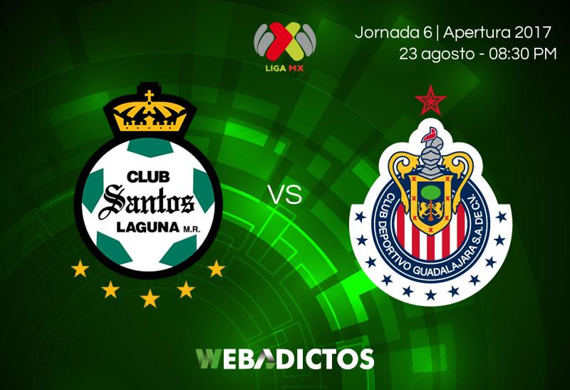 Santos vs Chivas, Jornada 6 del Apertura 2017 | Resultado: 1-1 - santos-vs-chivas-jornada-6-apertura-2017