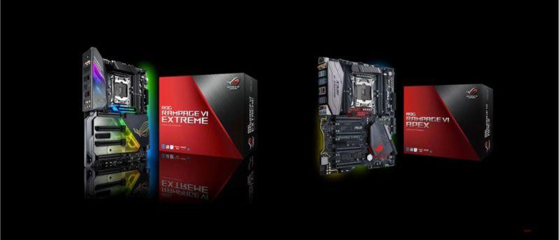ASUS ROG lanza las tarjetas madre ROG Rampage VI Extreme y Rampage VI Apex - tarjetas-madre-rog-rampage-extreme-vi-y-rampage-vi-apex-800x343