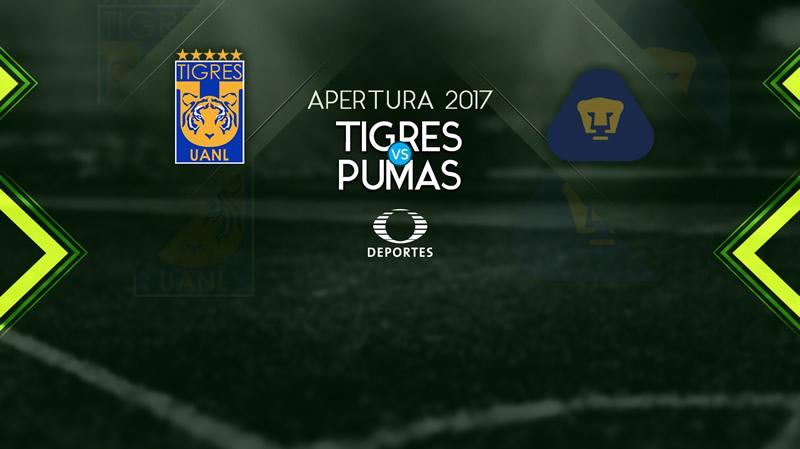 Tigres vs Pumas, Jornada 5 de Liga MX A2017 | Resultado: 2-0 - tigres-vs-pumas-televisa-deportes-a2017