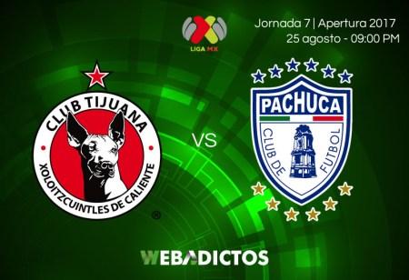 Tijuana vs Pachuca, Jornada 7 Apertura 2017 | Resultado: 2-1