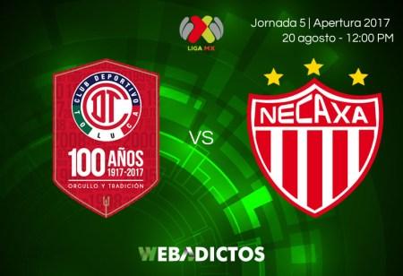 Toluca vs Necaxa, Jornada 5 de Liga MX A2017 | En vivo