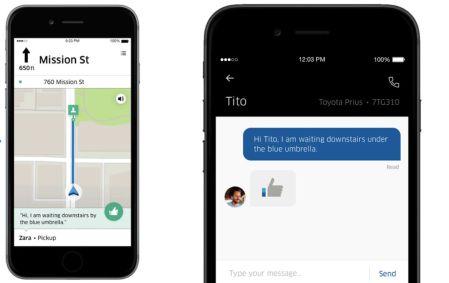Uber te permitirá chatear con tu conductor a través de la app