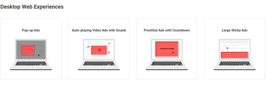 Google quiere combatir anuncios molestos en sitios web - worst-desktop-ads