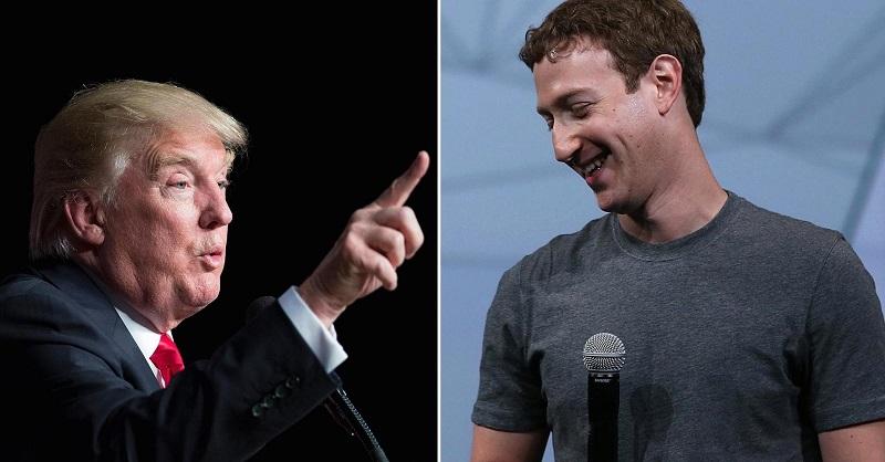 Trump ataca a Facebook y Zuckerberg contesta