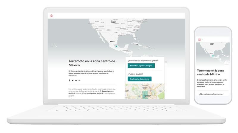 Airbnb extiende programa de respuesta a desastres hasta Octubre y amplía operación a Puebla y Morelos - airbnb-alojamiento-sismo-mexico
