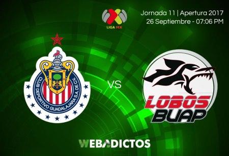 Chivas vs Lobos BUAP, Jornada 11 A2017 ¡En vivo por internet!