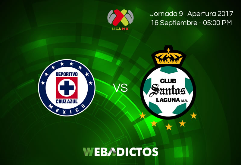 Cruz Azul vs Santos, Jornada 9 Apertura 2017 | Resultado: 2-1 - cruz-azul-vs-santos-j9-apertura-2017