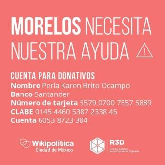 donar a morelos Cómo ayudar a México por el sismo, desde cualquier parte del mundo