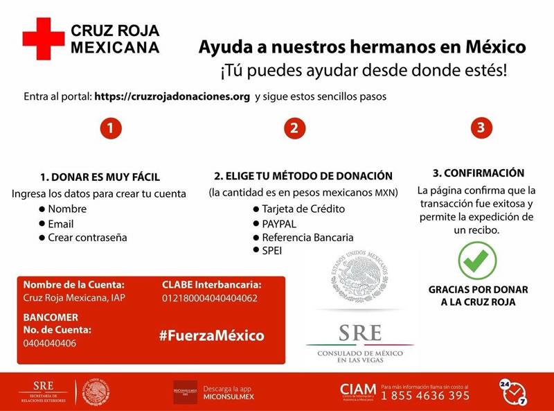 Cómo ayudar a México por el sismo, desde cualquier parte del mundo - donar-cruz-roja-sismo