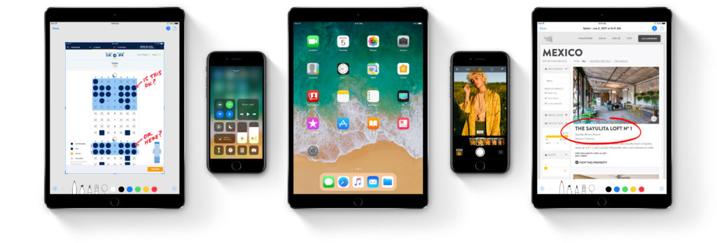 Apple lanza iOS 11.0.1 para todos los dispositivos compatibles - ios-11-devices