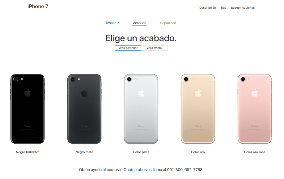 Apple descontinúa a los iPhone 7 y 7 Plus PRODUCT (RED) - iphone-7-colors-available