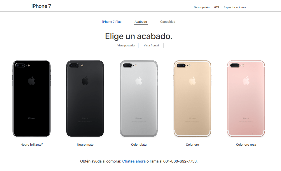 Apple descontinúa a los iPhone 7 y 7 Plus PRODUCT (RED) - iphone7-plus-colors-available