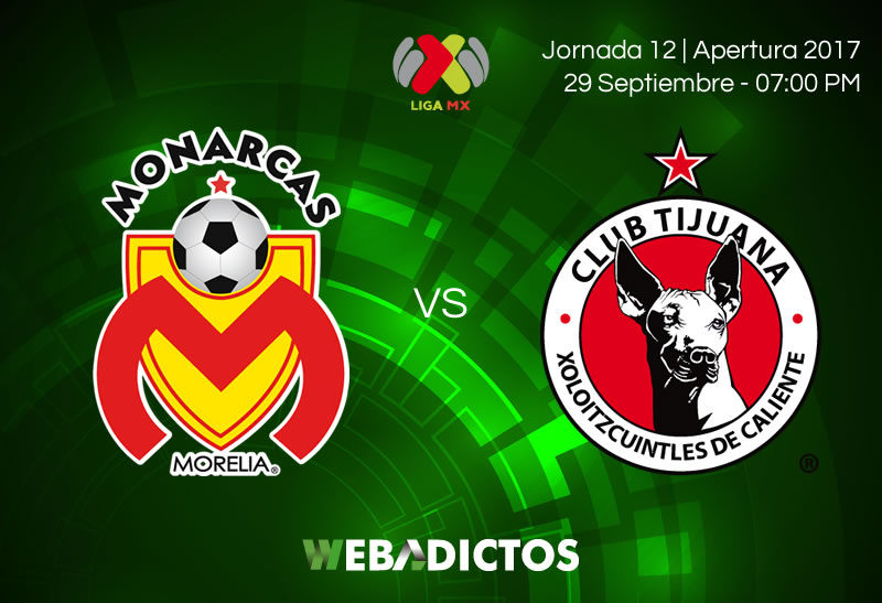 morelia vs tijuana j12 apertura 2017 Morelia vs Tijuana, Jornada 12 del Apertura 2017 | Resultado: 3 0