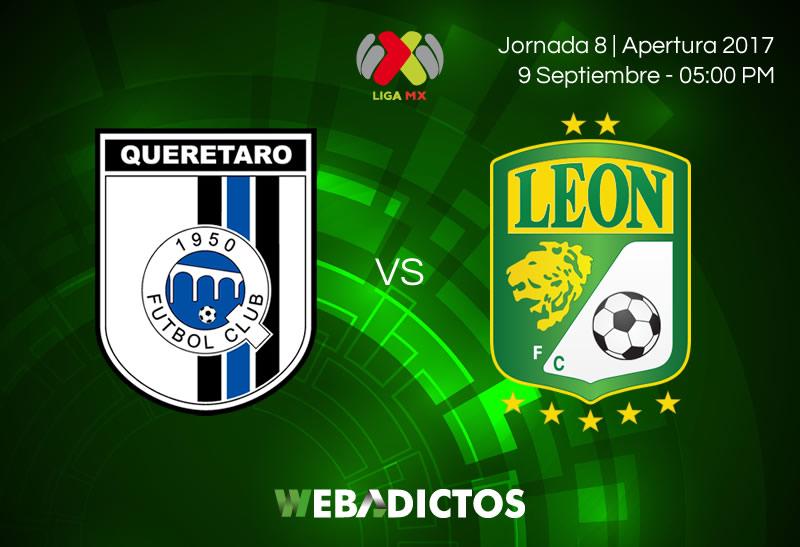 queretaro vs leon j8 apertura 2017 Querétaro vs León, J8 del Apertura 2017 | Resultado: 1 2