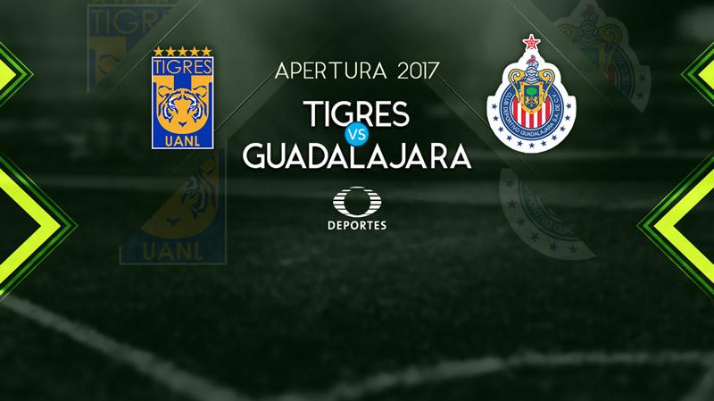 Tigres vs Chivas, Jornada 12 Liga MX A2017 | Resultado: 1-0 - tigres-vs-chivas-en-vivo-televisa-deportes-apertura-2017-800x449