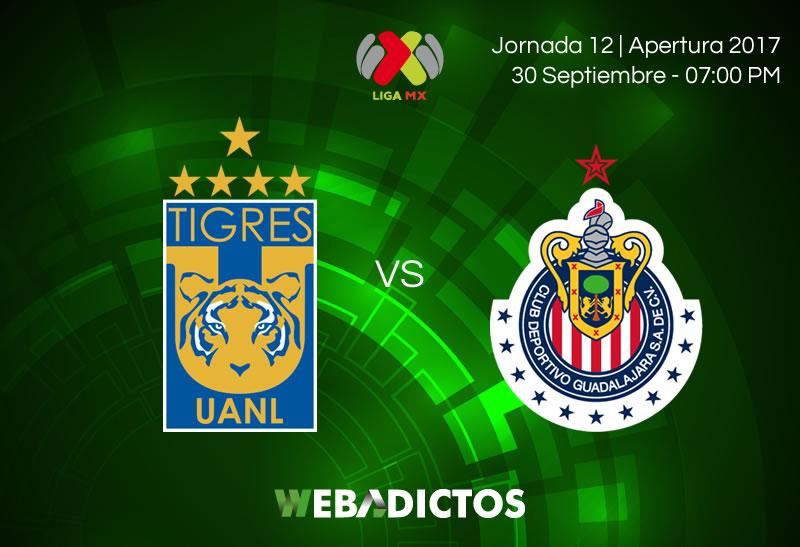 Tigres vs Chivas, Jornada 12 Liga MX A2017 | Resultado: 1-0 - tigres-vs-chivas-j12-apertura-2017-800x547