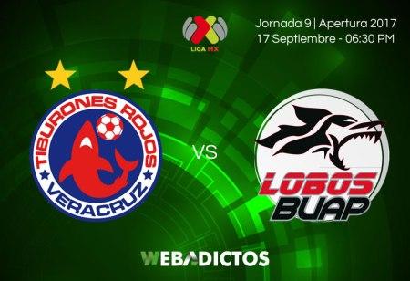 Veracruz vs Lobos BUAP, Jornada 9 Apertura 2017 | Resultado: 0-1