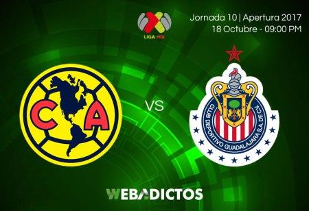 América vs Chivas, Jornada 10 de Liga MX A2017 ¡En vivo por internet!