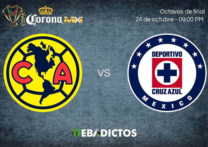 América vs Cruz Azul, Octavos de Copa MX A2017 | Resultado: 1-0 - america-vs-cruz-azul-24-octubre-copa-mx-apertura-2017-800x566