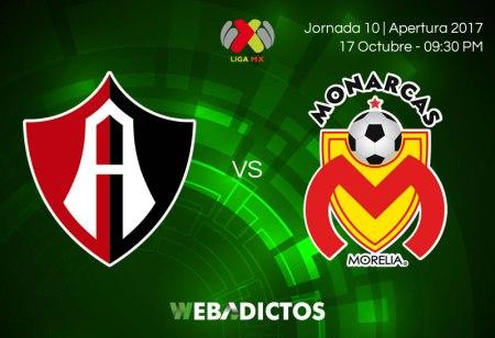 Atlas vs Morelia, Jornada 10 del Apertura 2017 ¡En vivo por internet!