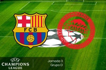 Barcelona vs Olympiacos, J3 de Champions League 2018 | Resultado: 3-1