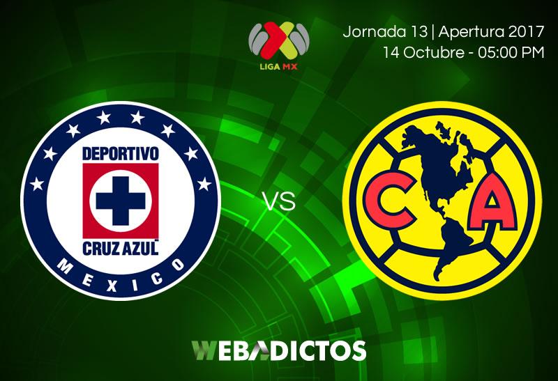 Cruz Azul vs América, Jornada 13 del Apertura 2017 | Resultado: 1-3 - cruz-azul-vs-america-j13-apertura-2017-800x547
