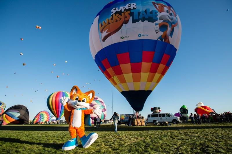 Xbox conquista título Guinness World Record desde un globo aerostático de Super Lucky's Tale - globo-aerostatico-de-super-luckys-tale-800x533