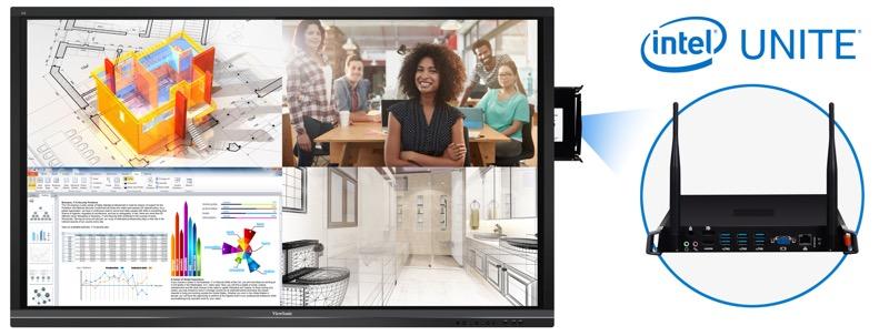 ViewSonic firma alianza con Intel para utilizar su solución Unite - intel-unite-800x303
