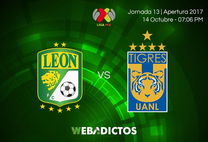 León vs Tigres, Fecha 13 del Apertura 2017   Resultado: 1-0 - leon-vs-tigres-j13-apertura-2017-800x547