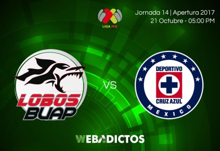 Lobos BUAP vs Cruz Azul, Jornada 14 Apertura 2017 ¡En vivo por internet!
