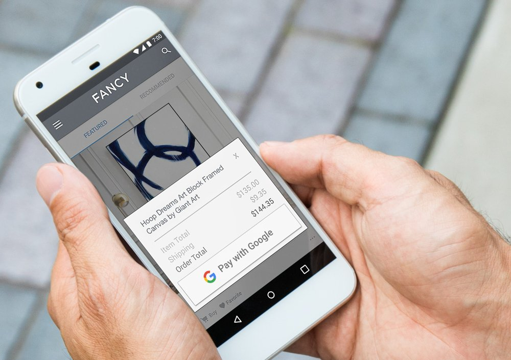 Pay with Google te ayuda a hacer tus pagos online más fácilmente en Chrome y Android - pay-with-google-android-phone