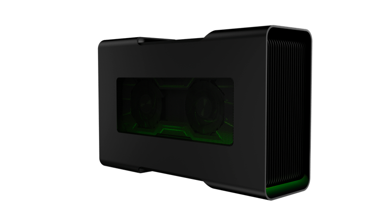 Razer lanza nueva laptop Razer Blade Stealth y gabinete externo Razer Core V2 - rzr_core_v2_front_left-800x450