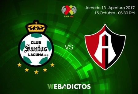 Santos vs Atlas, Jornada 13 del Apertura 2017 | Resultado: 0-1