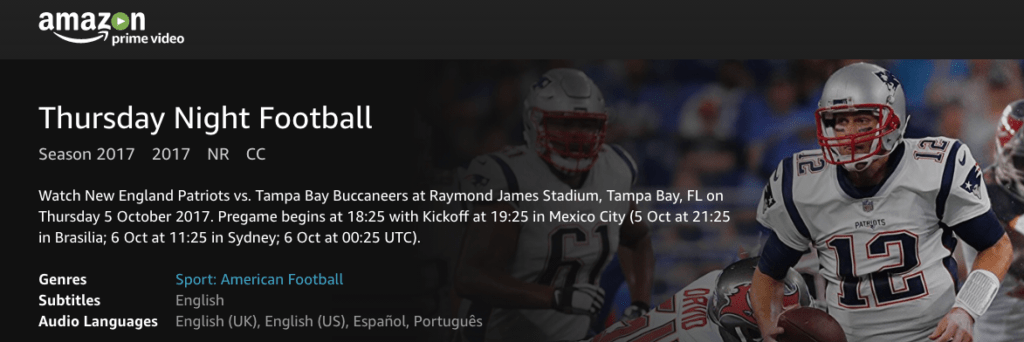 thursday night football Amazon anuncia los resultados de su transmisión del Thursday Night Football