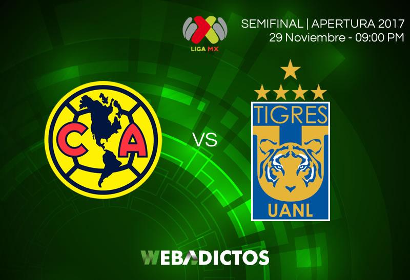 América vs Tigres, Ida de Semifinal A2017 | Resultado: 0-1 - america-vs-tigres-semifinal-apertura-2017-800x547
