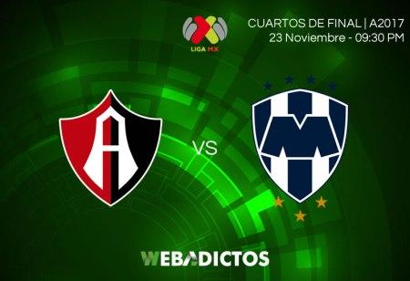 Atlas vs Monterrey, Partido de ida en la liguilla A2017 ¡En vivo por internet!