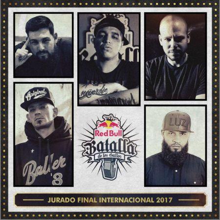 El jurado para la final internacional de Red Bull Batalla de los Gallos