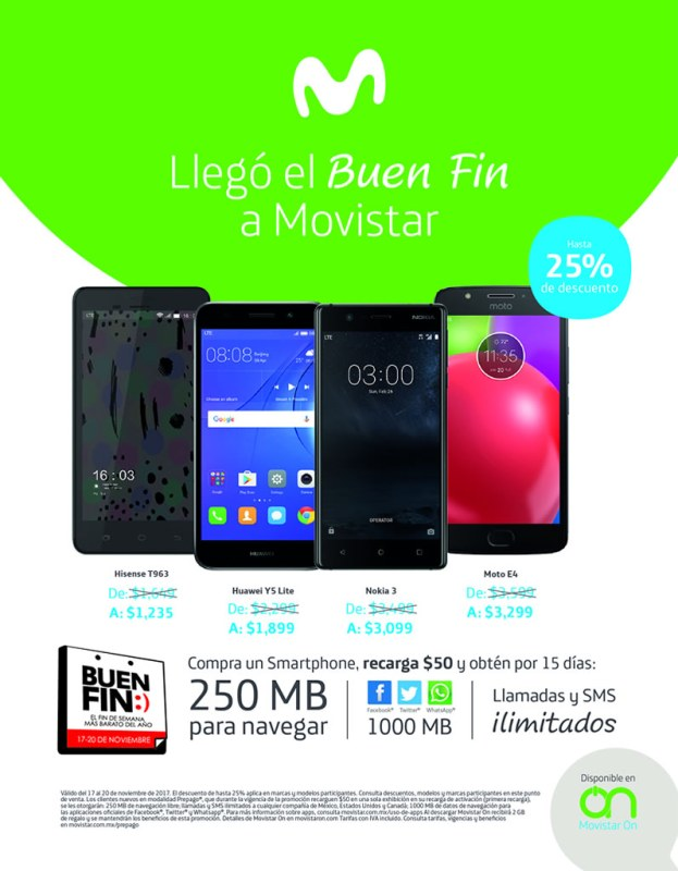 ofertas movistar buen fin 2017 623x800 Promociones y ofertas del Buen Fin 2017 en Movistar ¡Conócelas!