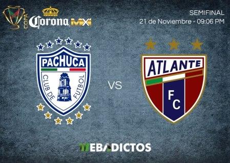Pachuca vs Atlante, Semifinal Copa MX A2017 ¡En vivo por internet!